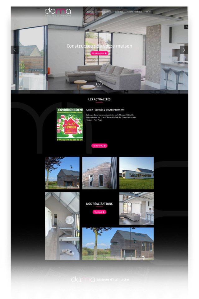 creation site vitrine cabinet architecte calais